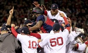 The Boston Red Sox celebrate