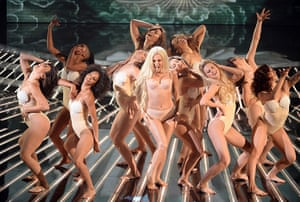 Week in Gaga: Once on stage Lady Gaga forgets her outfit during the  'The X Factor' perf