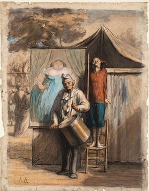 Honore Daumier: Honore Daumier The Sideshow