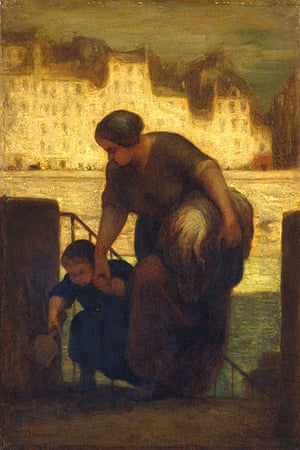 Honore Daumier: Honore Daumier The Laundress