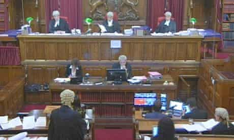 Scene at court of appeal during first television broadcast