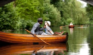 Downton Abbey: Gary Carr as Jack Ross and Lily James as Lady Rose