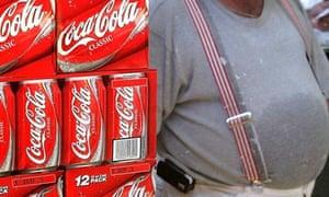 A display of Coca-Cola cartons