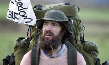 Naked rambler loses high court appeal against public order conviction