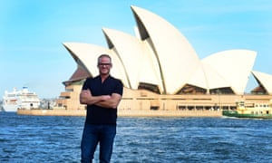 Heston Blumenthal in front of the Sydney Opera House