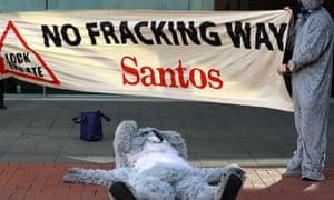 coal seam gas protest santos