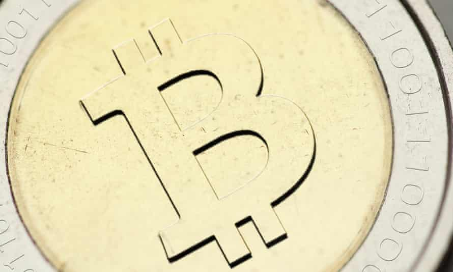 A mock-up of how Bitcoin might look if it were a physical currency.