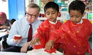 Michael Gove visits a school
