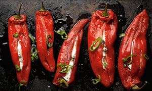 Yotam Ottolenghi's stuffed romano peppers with ricotta and mascarpone