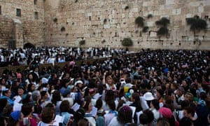 Members of the Women of the Wall group take part in their monthly prayer session in Jerusalem