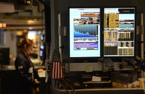 A trader works at the New York Stock Exchange in New York.