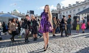 Cadbury dress, London fashion week, 16/09/13