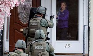 US Paramilitary police swat
