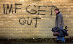 IMF graffiti in Dublin