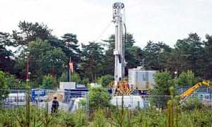 Cuadrilla's test drill site in Balcombe, West Sussex