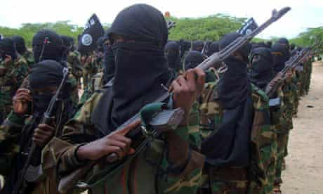 Members of al-Shabaab, which was reportedly targeted in a foreign military raid on the Somali coast