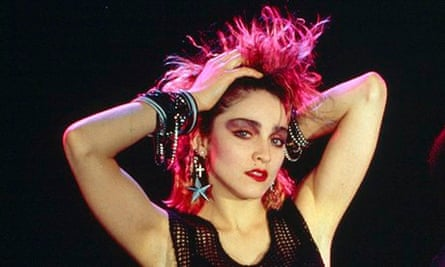Madonna in 1984, the year after her first album was released
