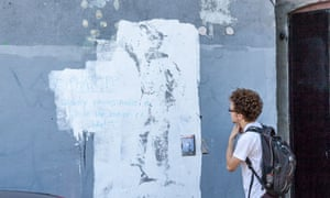 Banksy art painted over New York
