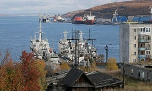 The Russian port city of Murmansk, where Greenpeace activists have been detained in several prisons