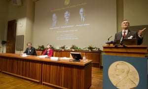 Goran Hansson announces the winners of the 2013 Nobel Prize for Physiology or Medicine