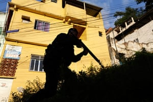 Favela clearance: The introduction of the peacekeeping program is part of the efforts to crac