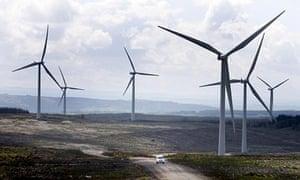 Whitelee windfarm on the outskirts of Glasgow