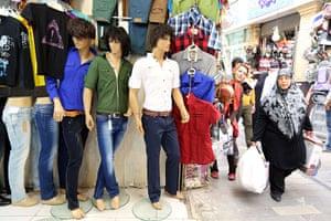 Iranian jeans: A shop selling jeans in Tajrish Bazaar