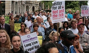 Protest over cuts to legal aid