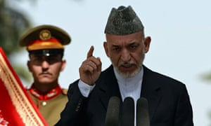 Hamid Karzai has said the US and Nato will not be allowed to 'continue to violate our sovereignty'