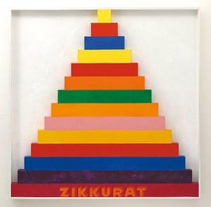 Pop art: Joe Tilson, Zikkurat 9, 1967