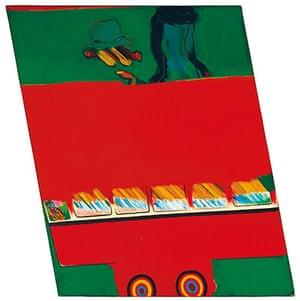 Pop art: Allen Jones, 4th bus/Slow Red and Green, 1962