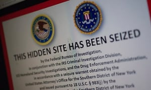 A screenshot of Silk Road after the website was closed by US authorities