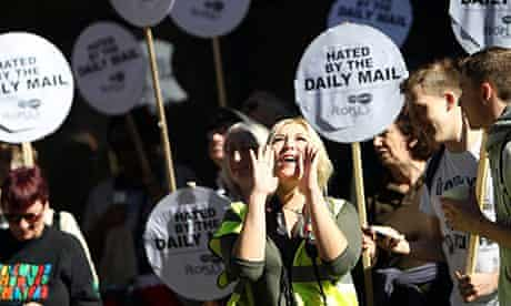 Protest outside Daily Mail headquarters