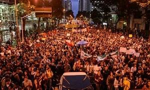 Protesters in central Rio de Janeiro