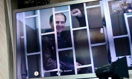 Russian photographer Denis Sinyakov at Murmansk court for bail hearing with two Greenpeace activists