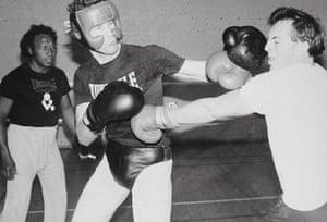 Putin and Abbott: Tony Abbott boxing