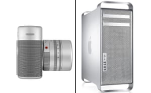 Ive's Leica, left, and a Mac Pro, right.