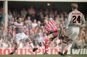 football kits: FA Carling Premiership: Southampton v Manchester United
