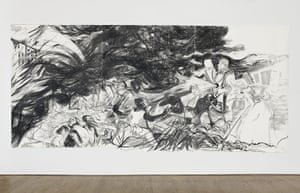 Kara Walker: Sketch for an American Comic Opera with 20th century Race Riots, 2012