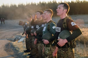 Army Photographic winners: Steam rises from Pegasus Company candidates on a freezing morning after com