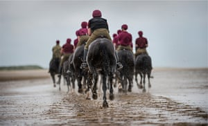 Army Photographic winners: Beach Gallop: The Household Cavalry Mounted Regiment are usually housed at