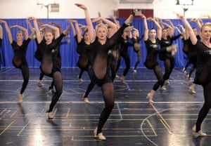 Rockettes rehearsing for Christmas spectacular