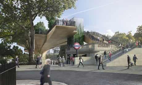 uk first garden bridge thames view a
