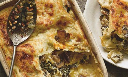 Hugh Fearnley-Whittingstall's kale and mushroom lasagne