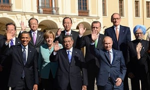 G20 leaders (From LtoR, front row) US Pr