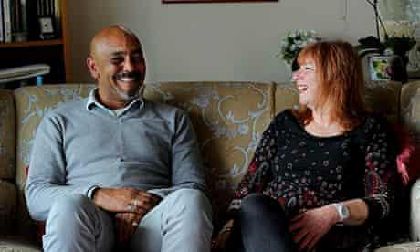 David Akinsanya and his former social worker Jenni Randall