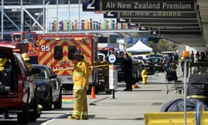 Fire and law enforcement officers deploy to Terminal Three after thousands of people were evacuated from Los Angeles International Airport after a suspected shooter opened fire in Terminal 3.