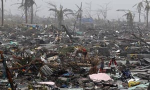 Residents search for belongings in the wreckage of Tacloban.