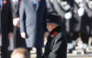 Remembrance Sunday: Queen Elizabeth attends the annual Remembrance Sunday ceremony