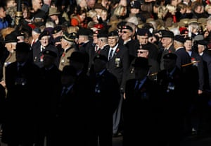 Remembrance Sunday: Military veterans gather near the Cenotaph